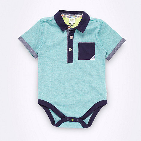 Baker by Ted Baker - Babies green fine striped bodysuit