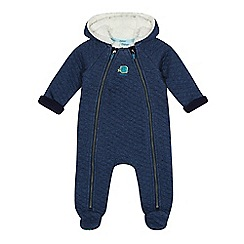 Baker by Ted Baker - Baby boys' blue quilted snugglesuit