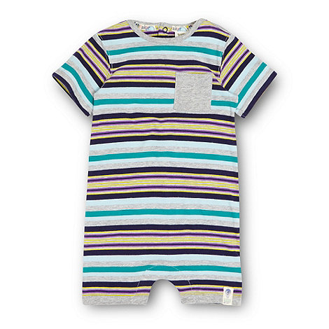 Baker by Ted Baker - Babies grey striped romper suit