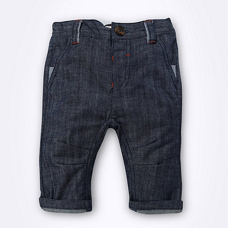 Baker by Ted Baker - Babies blue casual chambray trousers