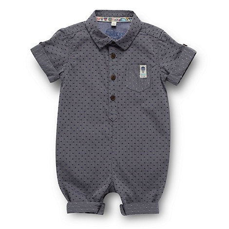 Baker by Ted Baker - Babies blue chambray shirt romper suit