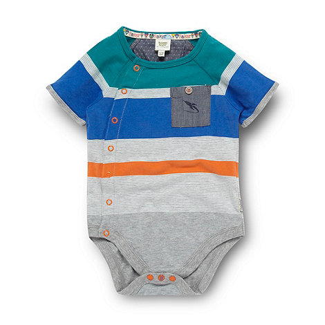 Baker by Ted Baker - Babies grey striped bodysuit