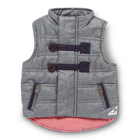 Baker by Ted Baker - Babies navy chambray gilet