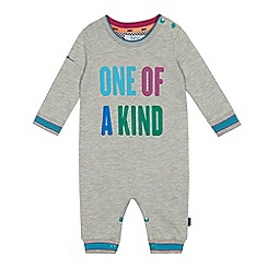 Baker by Ted Baker - Baby boys' grey 'One of a kind' print romper suit