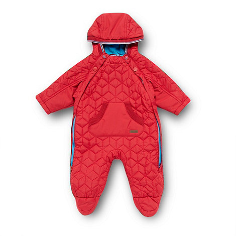 Baker by Ted Baker - Babies red quilted snowsuit