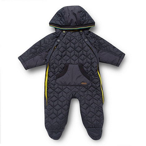 Baker by Ted Baker - Babies navy quilted snowsuit