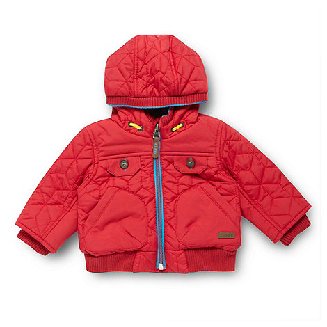 Baker by Ted Baker - Babies red quilted jacket