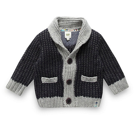 Baker by Ted Baker - Babies navy shawl cardigan