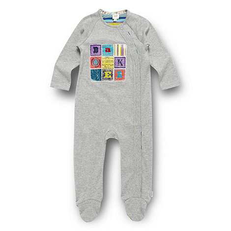Baker by Ted Baker - Babies grey building block sleepsuit