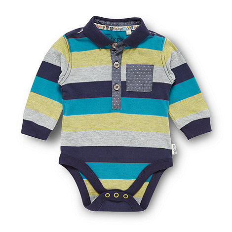 Baker by Ted Baker - Babies blue striped bodysuit