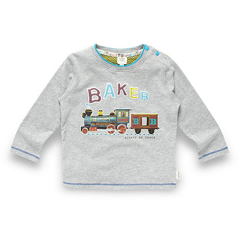 Baker by Ted Baker - Babies grey train printed top