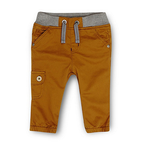 Baker by Ted Baker - Babies tan elasticated cuff chinos