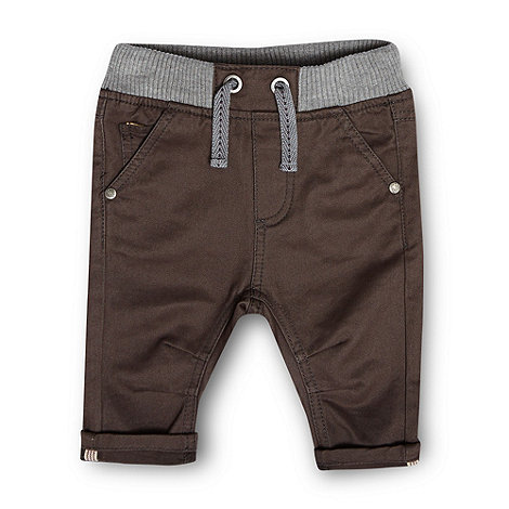 Baker by Ted Baker - Babies dark grey ribbed waist chinos