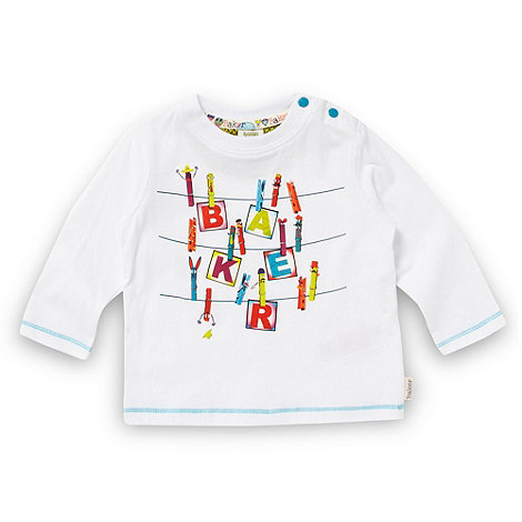 Baker by Ted Baker - Babies white washing line logo top