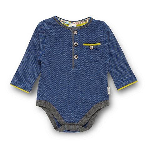 Baker by Ted Baker - Babies navy geometric jacquard bodysuit