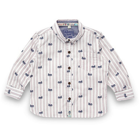 Baker by Ted Baker - Babies white train shirt