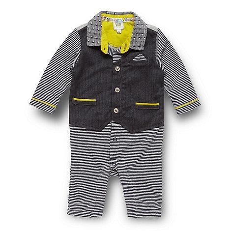 Baker by Ted Baker - Babies grey mock waistcoat romper suit