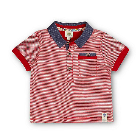 Baker by Ted Baker - Babies red striped polo shirt