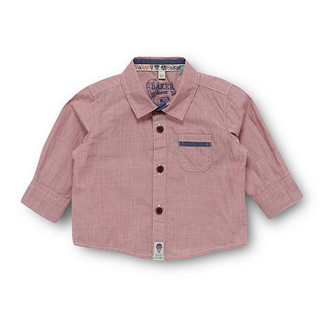 Baker by Ted Baker - Babies red chambray shirt