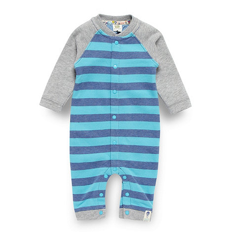 Baker by Ted Baker - Babies aqua striped sleepsuit