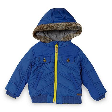 Baker by Ted Baker - Babies blue chevron quilted jacket