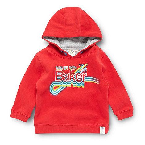 Baker by Ted Baker - Babies red logo hoodie
