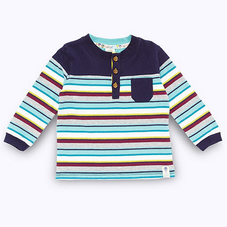 Baker by Ted Baker - Babies navy multi striped top