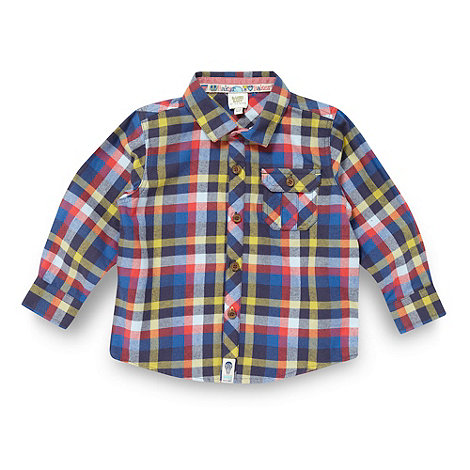 Baker by Ted Baker - Babies blue brushed checked shirt