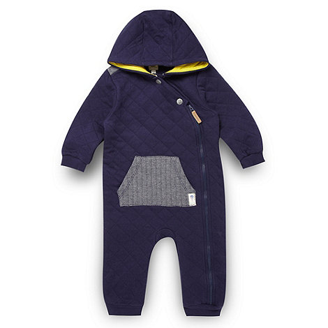 Baker by Ted Baker - Babies navy quilted sleepsuit
