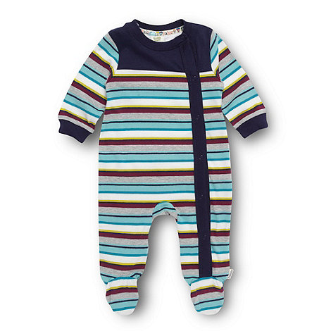 Baker by Ted Baker - Babies grey striped sleepsuit
