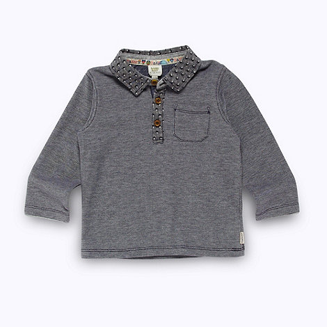 Baker by Ted Baker - Babies blue pique polo collar top