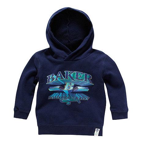 Baker by Ted Baker - Babies navy logo printed hoodie
