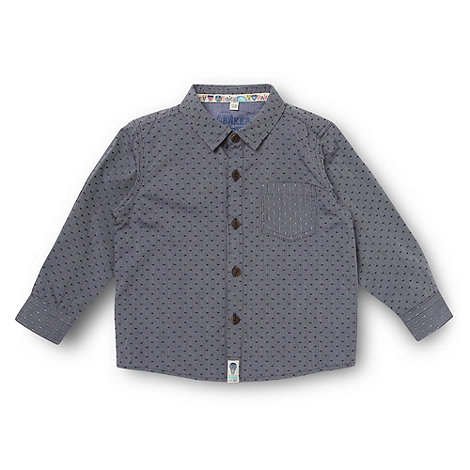 Baker by Ted Baker - Babies blue textured spotted shirt