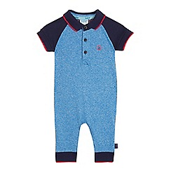 Baker by Ted Baker - Baby boys' blue polo romper suit