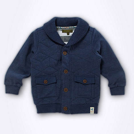 Baker by Ted Baker - Boy+s navy quilted jersey jacket