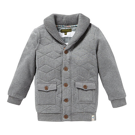 Baker by Ted Baker - Boy+s grey quilted sweat jacket