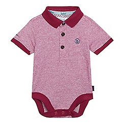 Baker by Ted Baker - Baby boys' red striped polo bodysuit