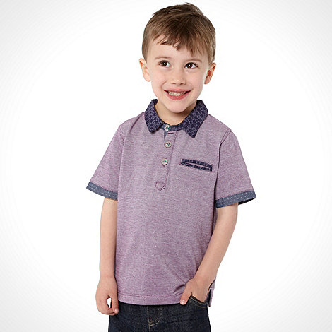 Baker by Ted Baker - Boy+s purple printed collar polo top