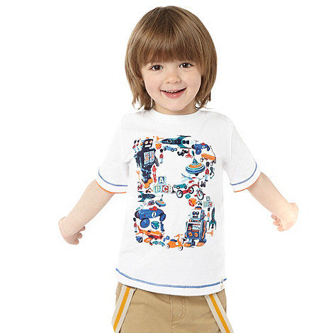 Baker by Ted Baker - Boy+s white toys logo printed t-shirt