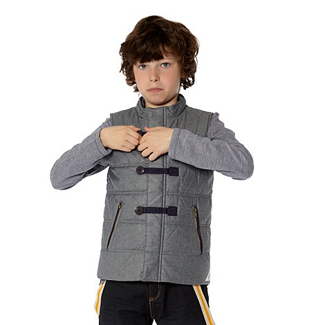Baker by Ted Baker - Boy+s grey quilted chambray gilet