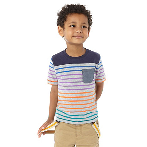 Baker by Ted Baker - Boy+s multi striped crew t-shirt