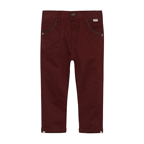 Baker by Ted Baker - Boy+s wine chino trousers