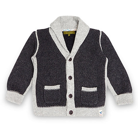 Baker by Ted Baker - Boy+s grey knitted cardigan