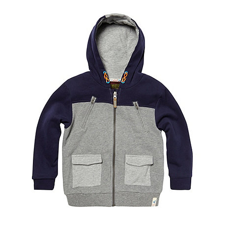 Baker by Ted Baker - Boy's grey quilted sweat jacket