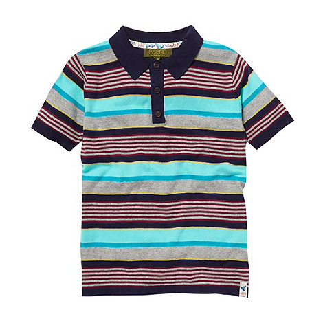 Baker by Ted Baker - Boy+s multi knitted stripe polo top