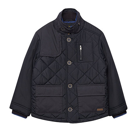 Baker by Ted Baker - Boy+s navy quilted jacket