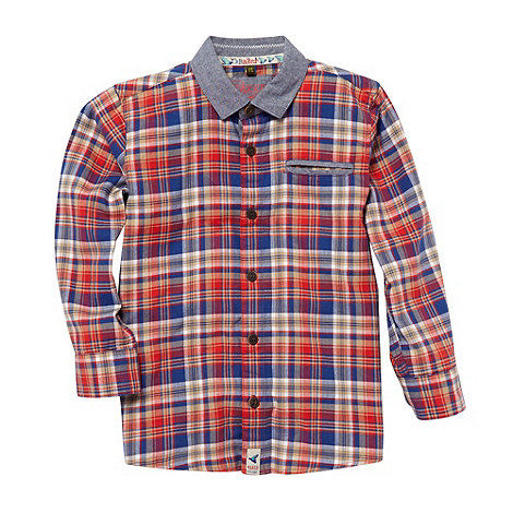 Baker by Ted Baker - Boy+s red checked shirt