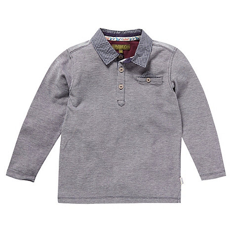 Baker by Ted Baker - Boy+s grey long sleeve polo top