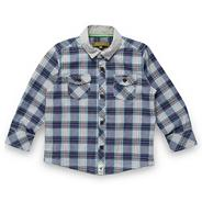 Boy's blue checked chambray shirt