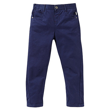 Baker by Ted Baker - Boy+s  navy peg chino trousers